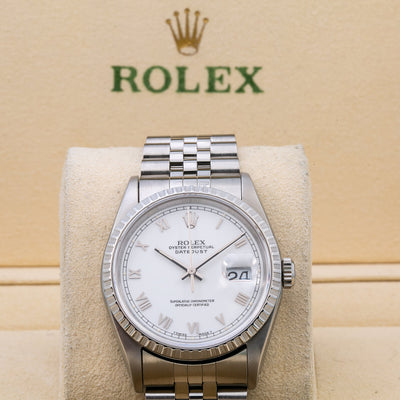 Rolex Datejust 16220 36MM White Dial With Stainless Steel Bracelet