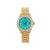 Rolex Lady-Datejust Diamond Watch, 6917 26mm, Turquoise Diamond Dial With Yellow Gold President Bracelet
