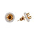 18K Rose Semi Mount  Gold Round Shaped Earrings