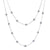 14K White Gold Diamond Necklace With Small Balls