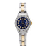 Rolex Lady-Datejust 69173 26MM Blue Diamond Dial  With 0.90 CT Diamonds