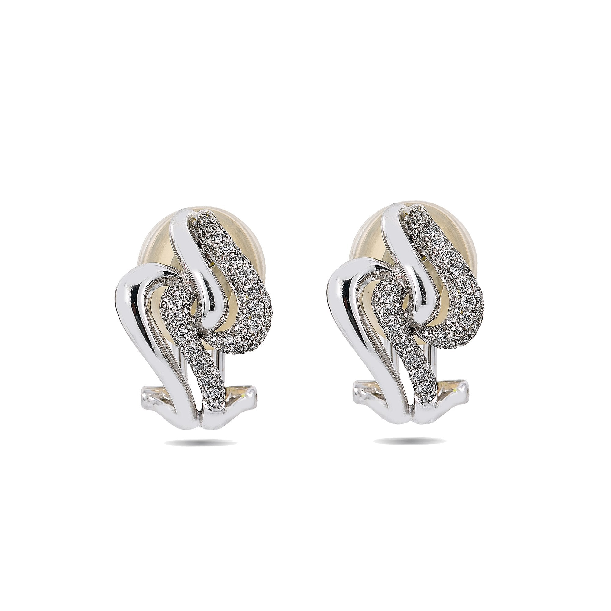 18K White Gold Ladies Drop Earrings With 0.67 CT Diamonds