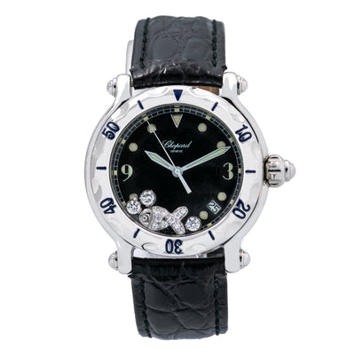 Chopard Happy Sports 8347 38mm Black Dial