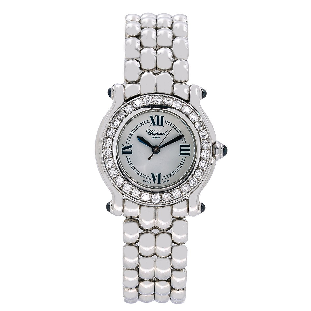 Chopard Happy Sport 8245 26mm White Dial with Diamond Bezel