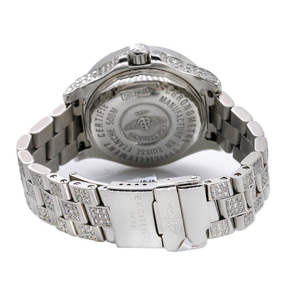 Breitling Colt Oceane A77380 33mm White Mother of Pearl with 8.0CT Diamonds Watch