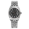 Rolex Datejust 16014 36mm Black Dial with Baguet Hour Marks