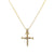 Unisex 14K Yellow Gold Cross of Nails Pendant with 0.40 CT Diamonds