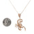 Women's 14K Yellow Gold Pendant with 1.25 CT Diamonds