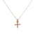 Unisex 14K Rose Gold Pendant with 0.26 CT Diamonds