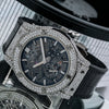 Hublot Classic Fusion Chronograph 545.NX.0170.LR 45MM Black Dial With Leather Bracelet