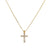 Unisex 14K Yellow Gold Pendant with 0.55 CT Diamonds