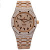 Audemars Piguet Royal Oak Selfwinding 15400OR 41MM Champagne Diamond Dial With 27.95 CT Diamonds