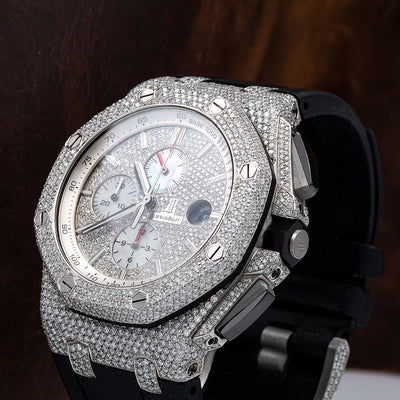 Audemars Piguet Royal Oak Offshore Chronograph 26170ST 42MM White Diamond Dial With 14.09 CT Diamonds
