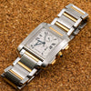 Cartier Tank Française W51004Q4 28MM White Dial With Stainless Steel and Yellow Gold Bracelet