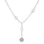 "18K White Gold Women's Necklace, 18"" chain and diamonds"