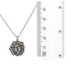 18K White Gold 3D Flower Women's Pendant with 1.02CT Diamonds