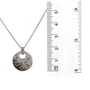 14K White Gold Disk Women's Pendant with 2.77CT Diamonds