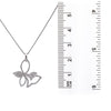 18K White Gold Tie knot Women's Pendant with 0.74CT Diamonds
