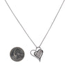 14K White Gold Floating Hearts Women's Pendant with 1.75CT Diamonds