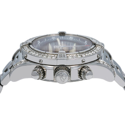 Breitling SuperOcean Chronograph II A13340 42MM Blue Dial With 5.00 CT Diamonds