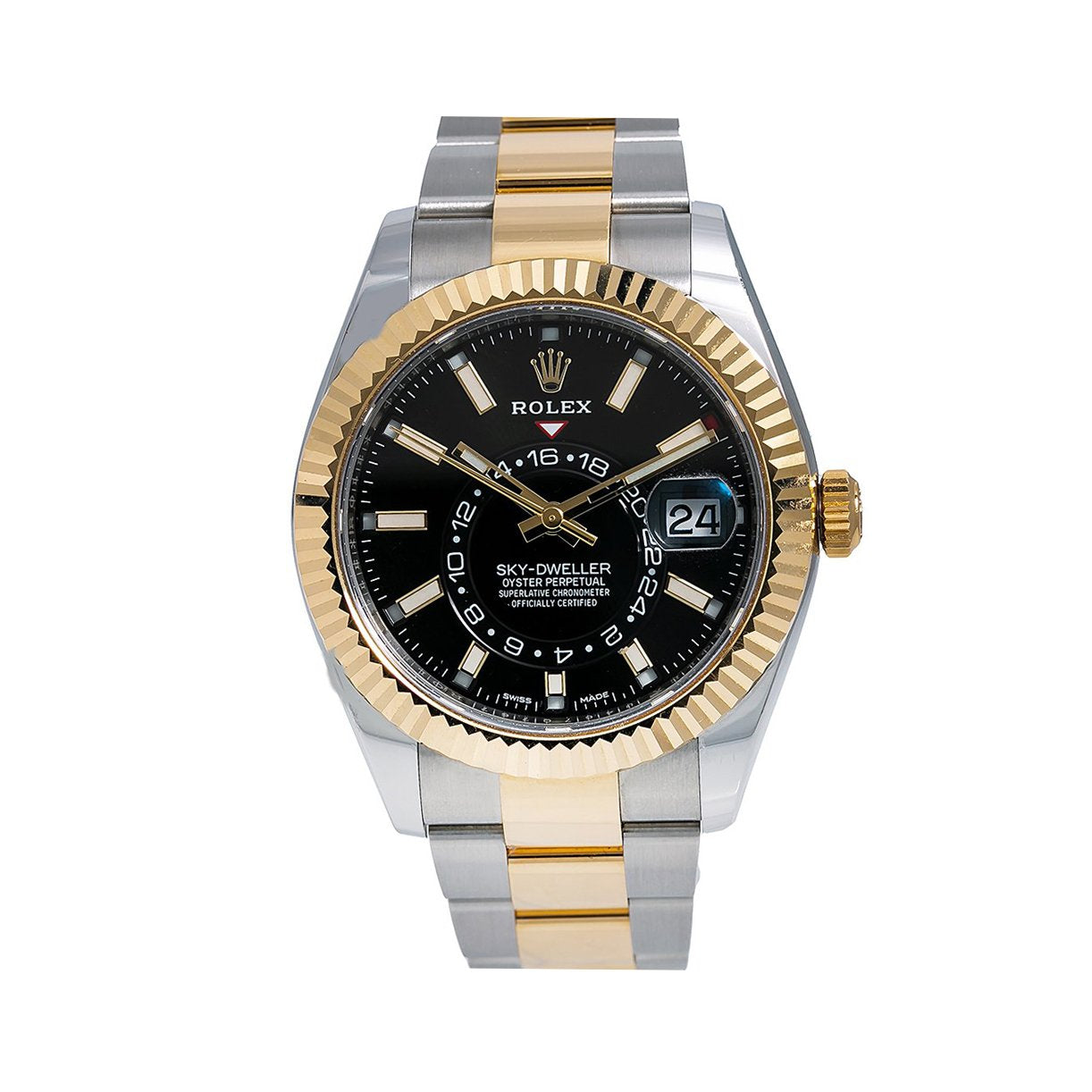 Rolex Sky-Dweller 326933 42MM Black Dial With Two Tone Bracelet