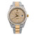 Rolex Datejust Diamond Watch, 116333 36mm, Champagne Diamond Dial With Two Tone Bracelet