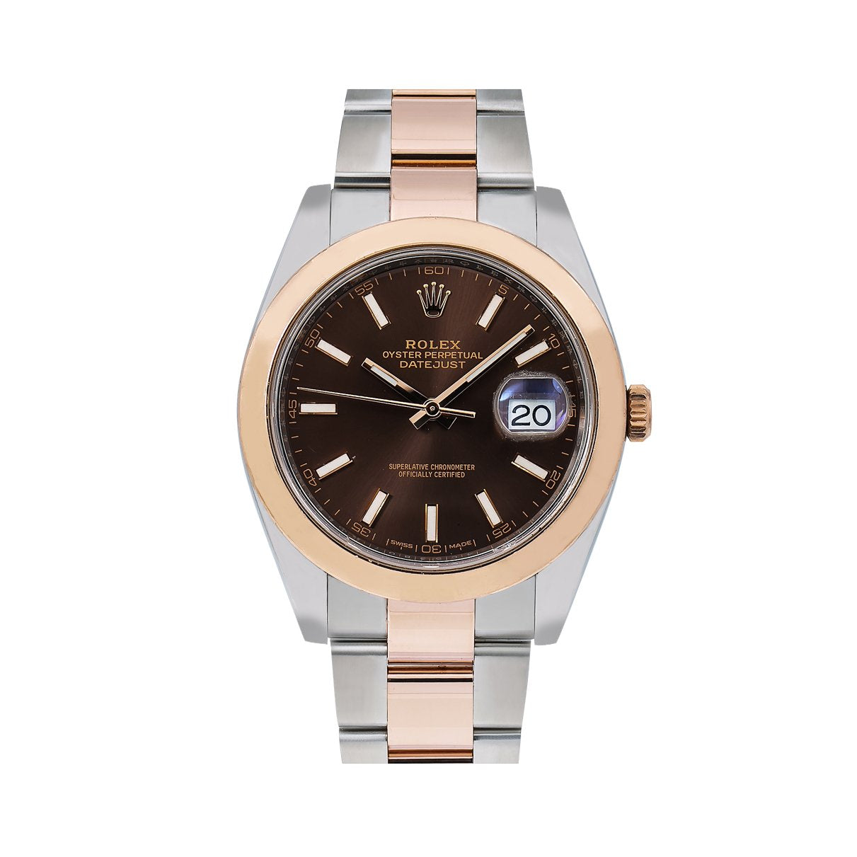 Rolex Datejust 126301 41MM Brown Dial With Two Tone Bracelet