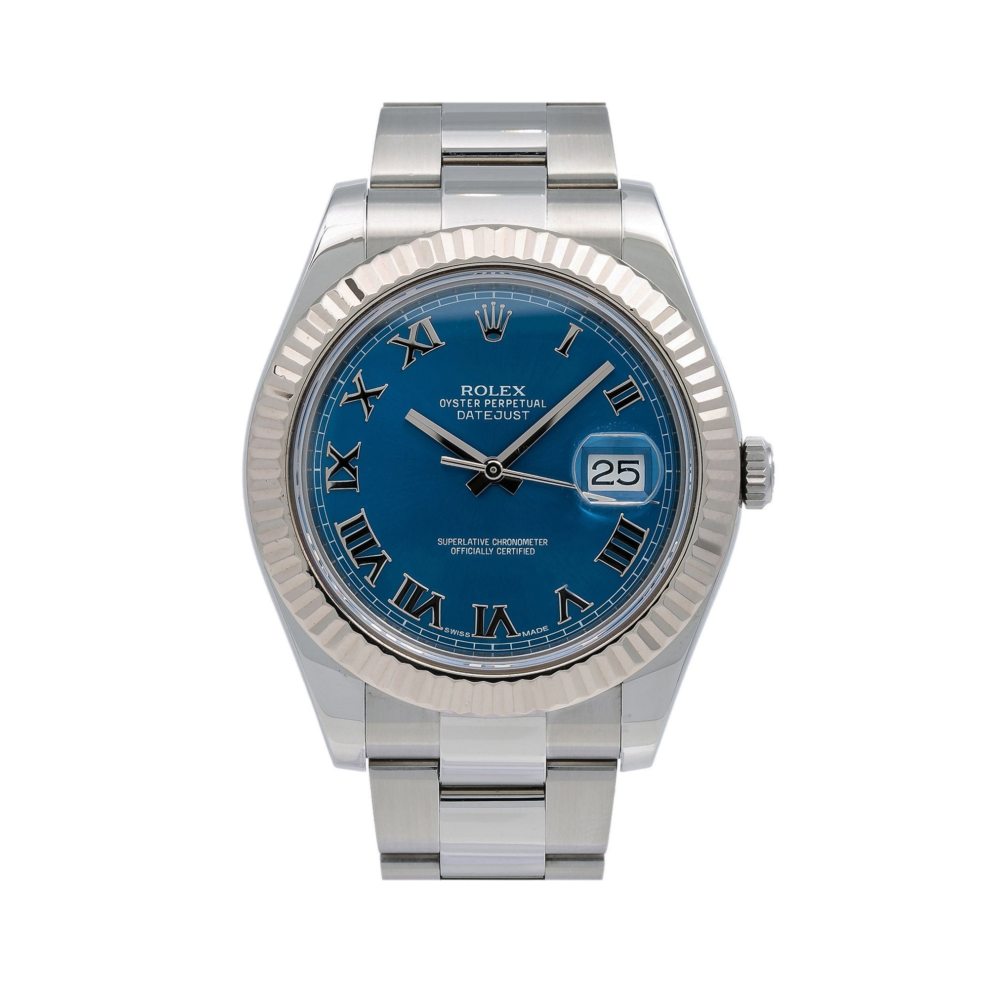 Rolex Datejust II 116334 41MM Blue Dial With Stainless Steel Oyster Bracelet