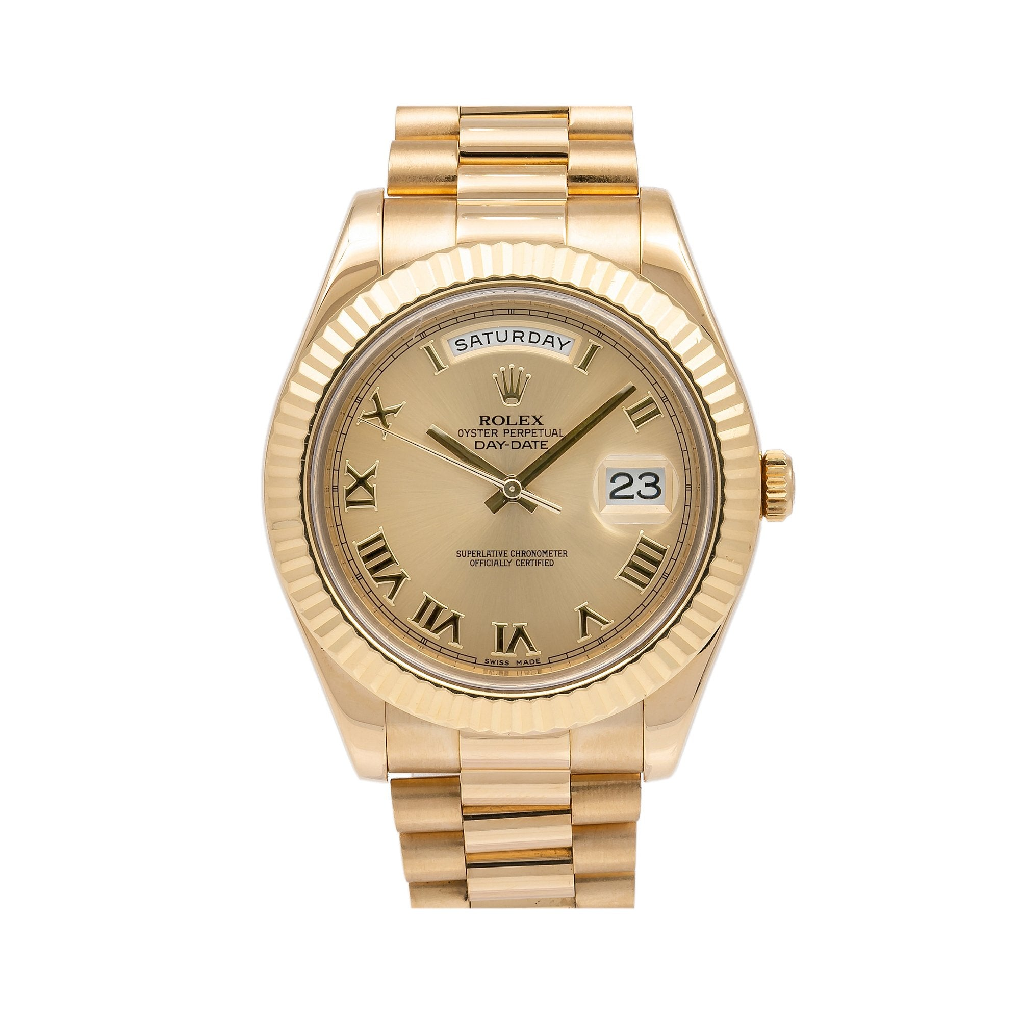 Rolex Day-Date II 218238 41MM Champagne Dial With Yellow Gold President Bracelet