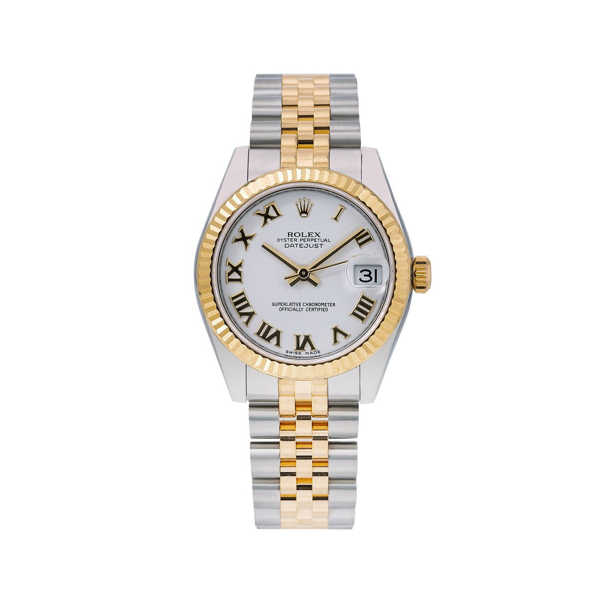 Rolex Datejust 178243 31MM White Dial With Two Tone Bracelet