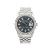 Rolex Datejust 16014 36MM Black Diamond Dial With 1.20 CT Diamonds