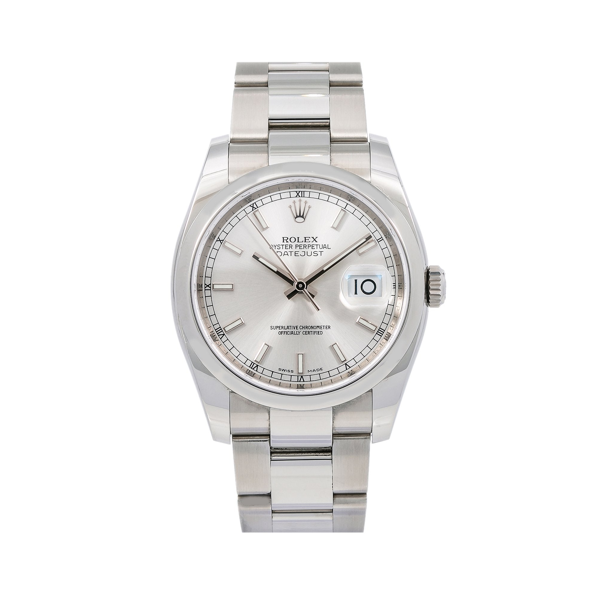 Rolex Datejust 116200 36MM Silver Dial With Stainless Steel Oyster Bracelet