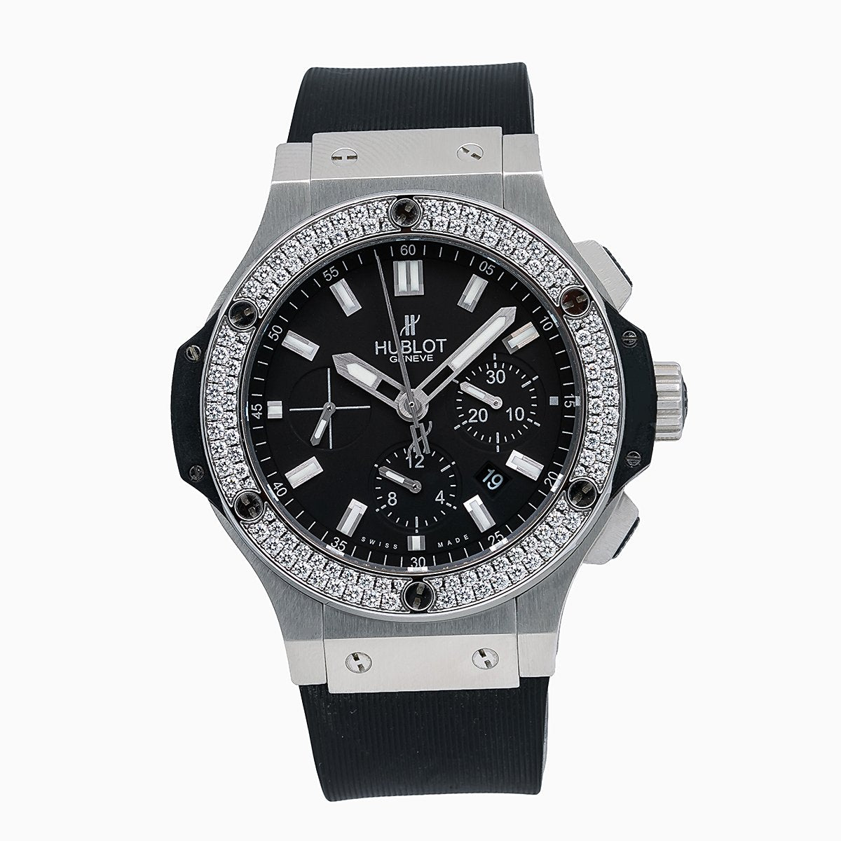 Hublot Big Bang 301.SM.1770.RX 44MM Black Dial With 1.25 CT Diamonds