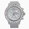 Breitling Super Avenger A13370 53MM White Diamond Dial With White Gold Bracelet