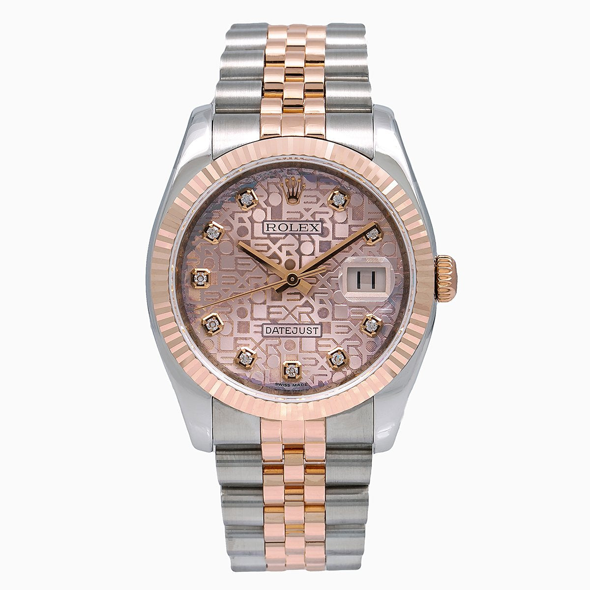Rolex Datejust 116231 36MM Factory Pink Dial with Two Tone Jubilee Bracelet