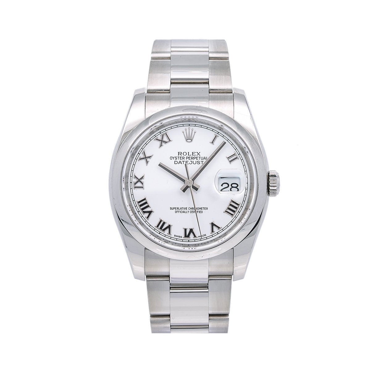 Rolex Datejust 116200 36MM White Dial With Stainless Steel Oyster Bracelet