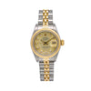 Rolex Lady-Datejust 69173 26MM Champagne Diamond Dial With Two Tone Jubilee Bracelet