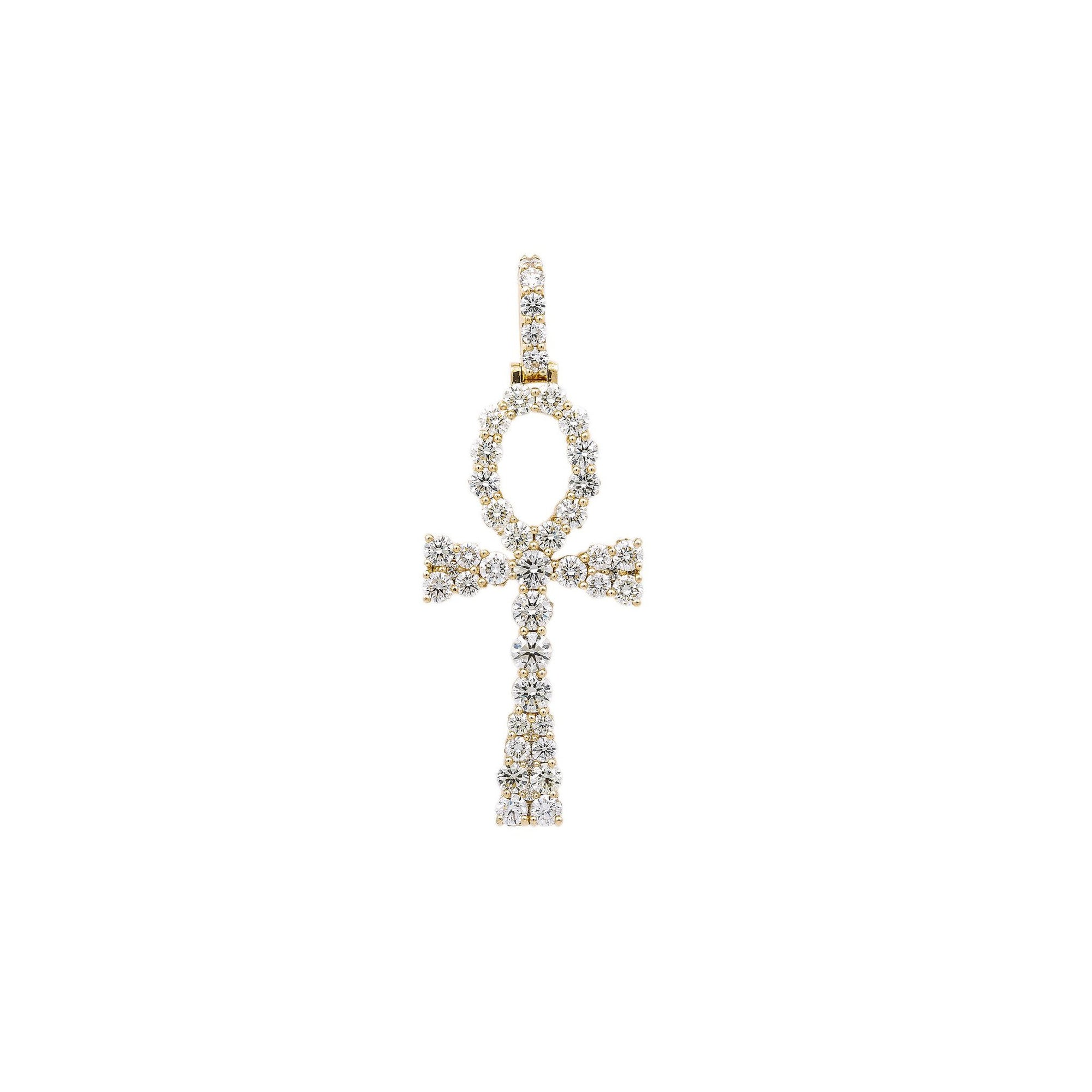 Unisex 14K Yellow Gold Pendant with 7.50 CT Diamonds
