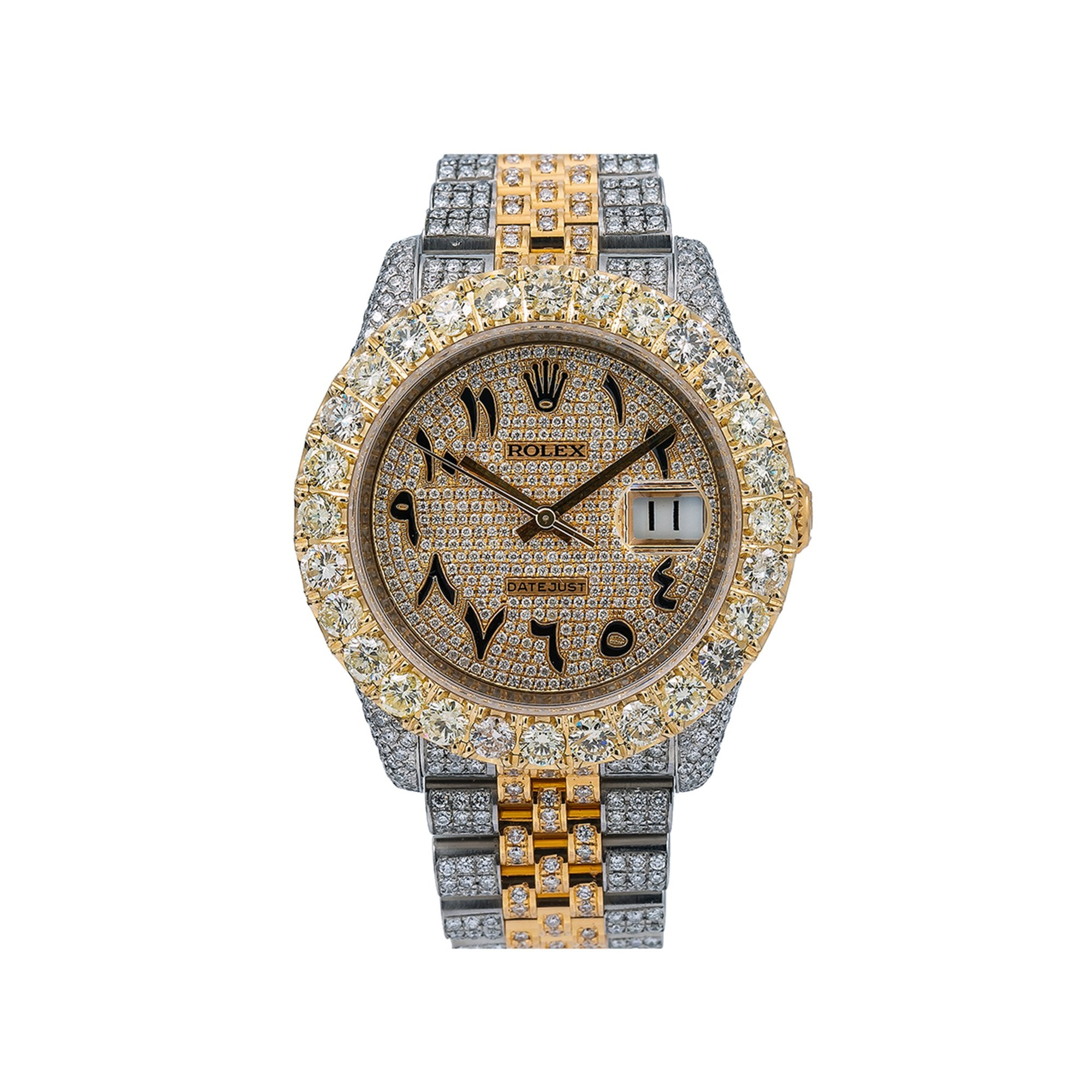 Rolex Datejust Diamond Watch, 116233 36mm, Champagne Diamond Dial With Two Tone Bracelet
