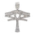Unisex 14K White Gold Pendant with 2.70 CT Diamonds