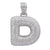 Unisex 14K White Gold Initial D Pendant with 7.99 CT Diamonds