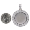 Unisex 14K White Gold Blank Bezel Pendant with 1.70 CT Diamonds
