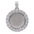 Unisex 14K White Gold Pendant with 2.23 CT Diamonds