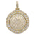 Unisex 14K Yellow Gold Pendant with 9.02 CT Diamonds