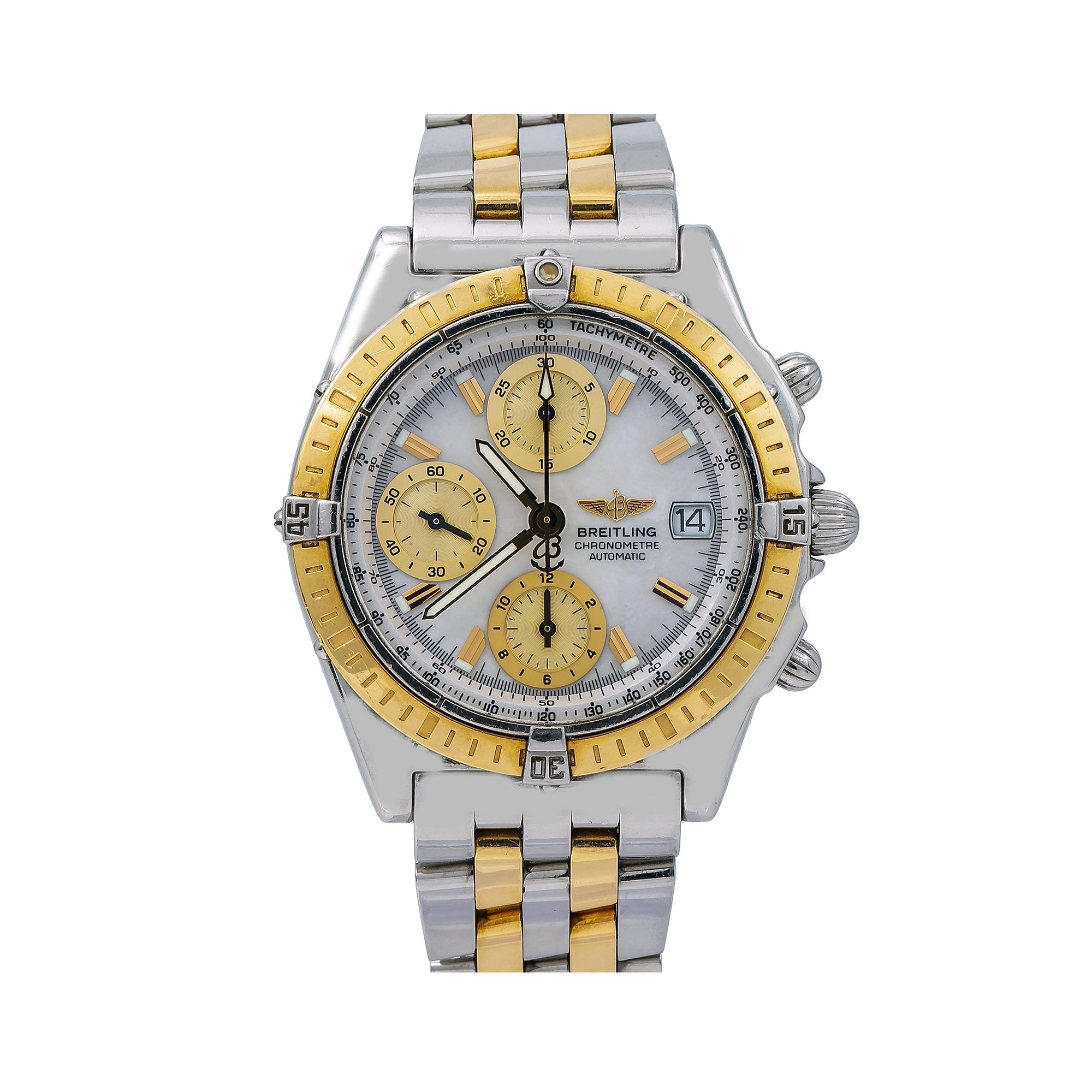 Breitling Chronomat D13352 40MM Mother of Pearl Dial With Two Tone Bracelet