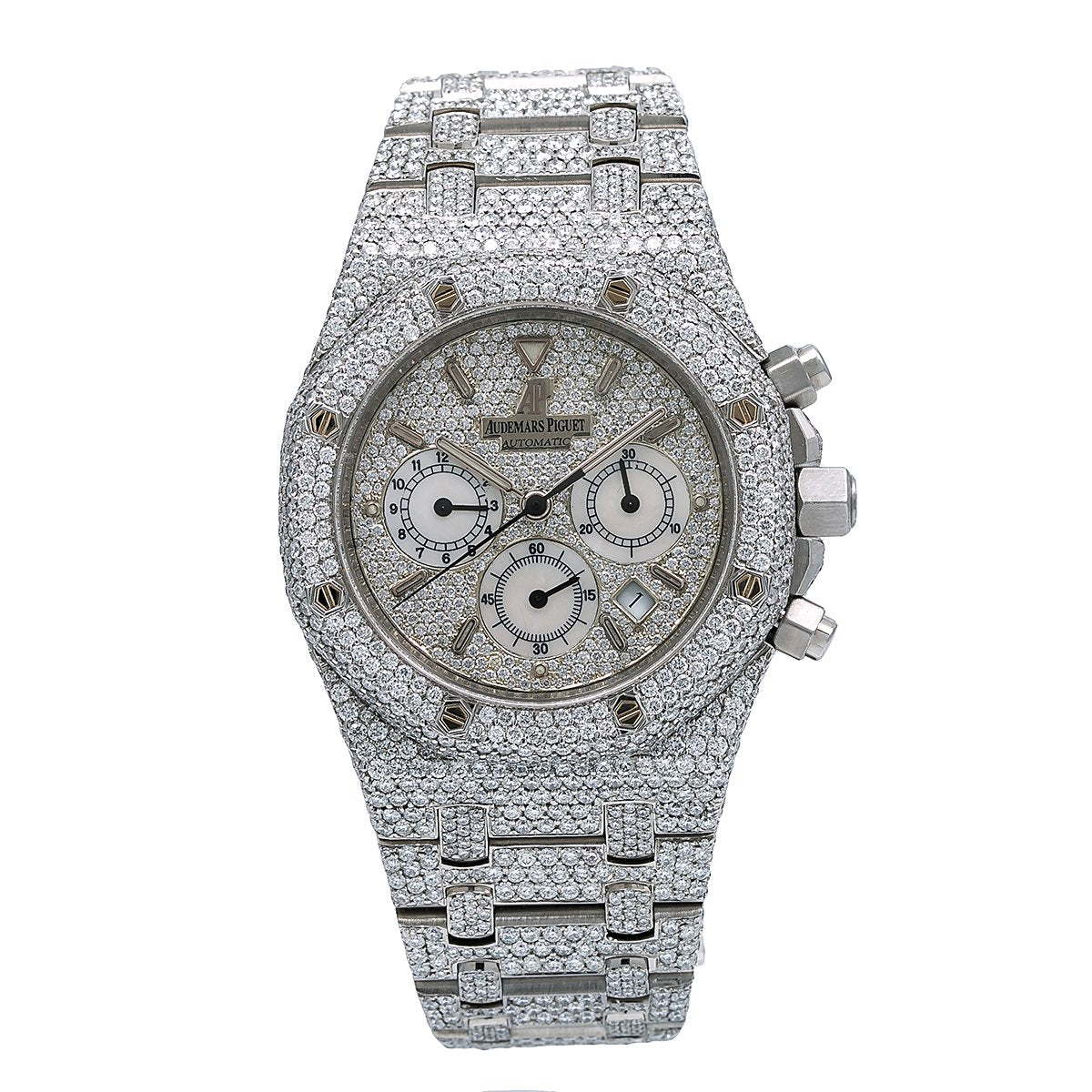 Audemars Piguet Royal Oak Chronograph 25860ST.OO.1110ST.05 39MM Silver Diamond Dial With 23.75 CT Diamonds