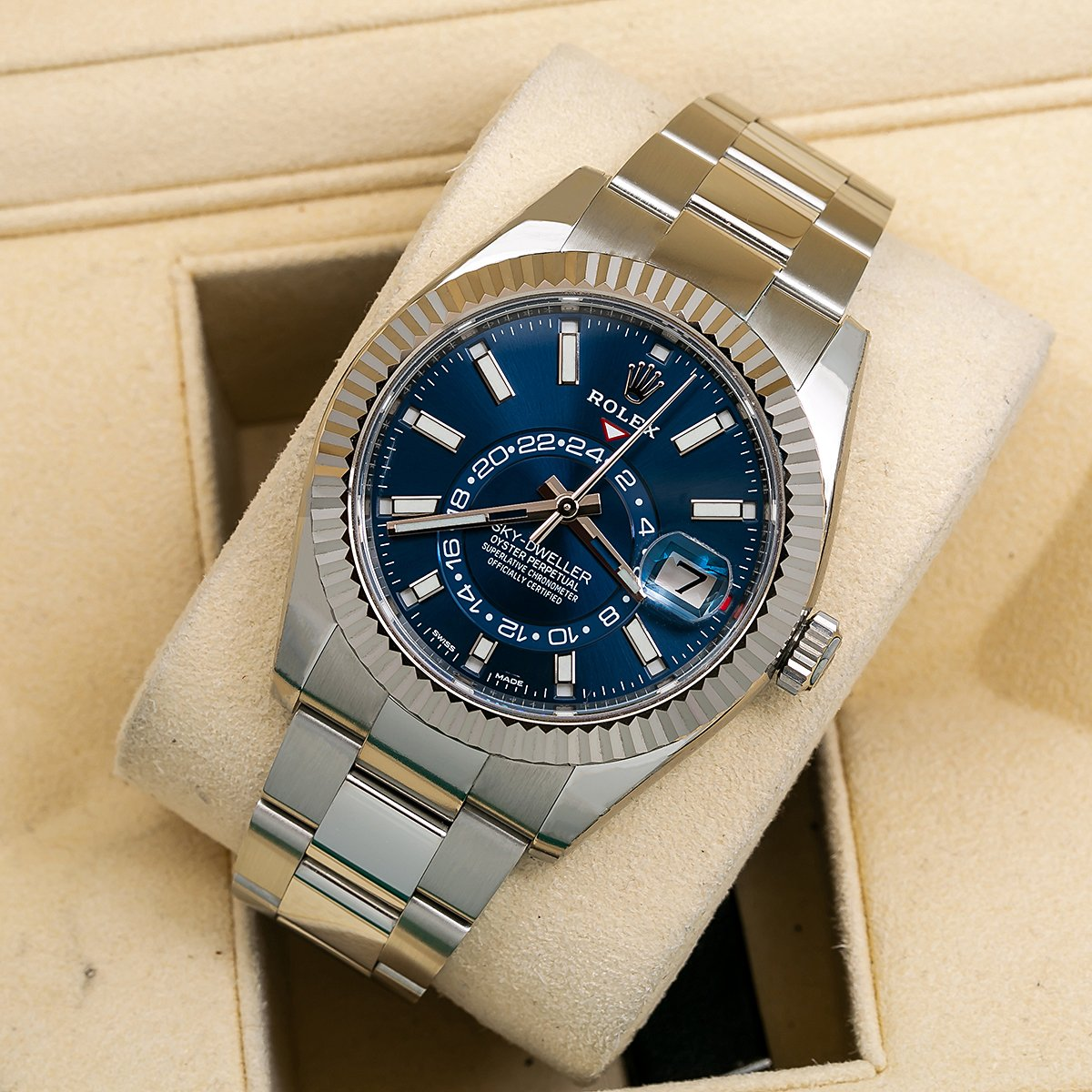 Rolex Sky,Dweller 326934 42MM Blue Dial With Stainless Steel Oyster Bracelet