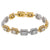 14K Two Tone Men's Bracelet With 6.26 CT Diamonds