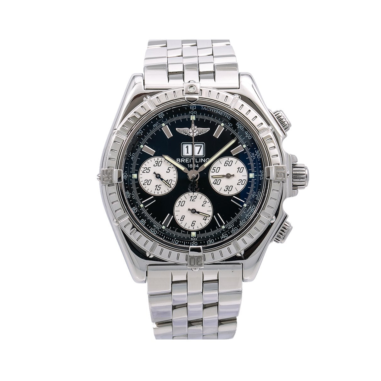 Breitling Crosswind Special A44355 44MM Black Dial With Stainless Steel Bracelet