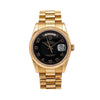Rolex Day-Date 118205 36MM Black Dial With Yellow Gold President Bracelet